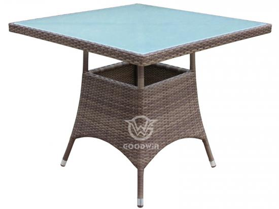 Square Wicker Dining Table